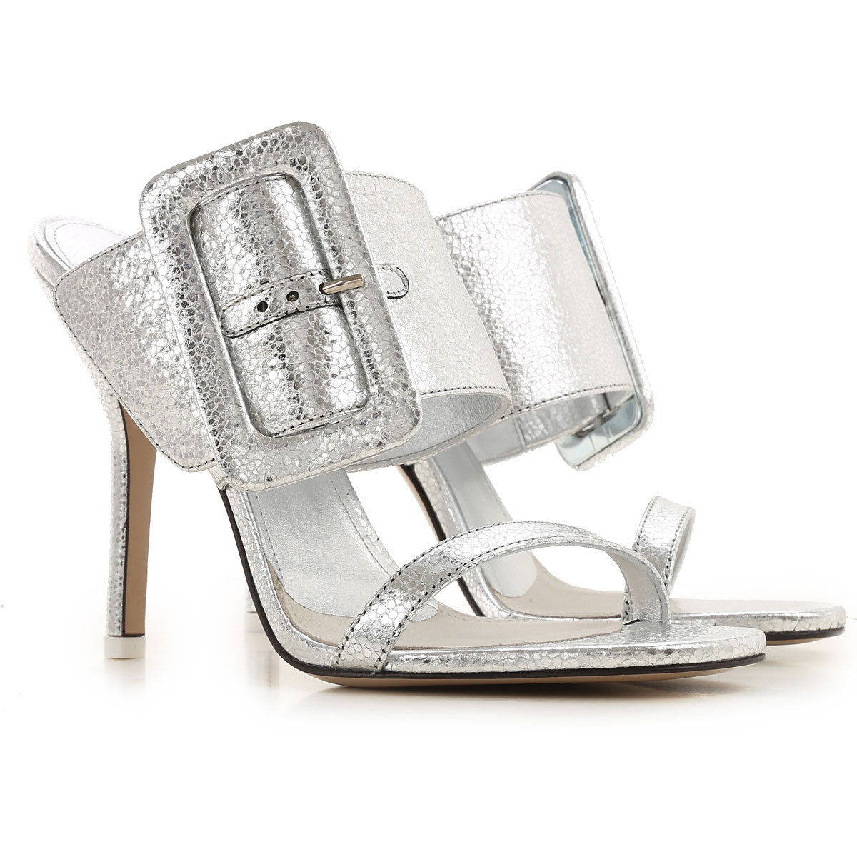 The Attico Sandals for Women On Sale, Silver, Leather, 2019, 10 6 7 8 9