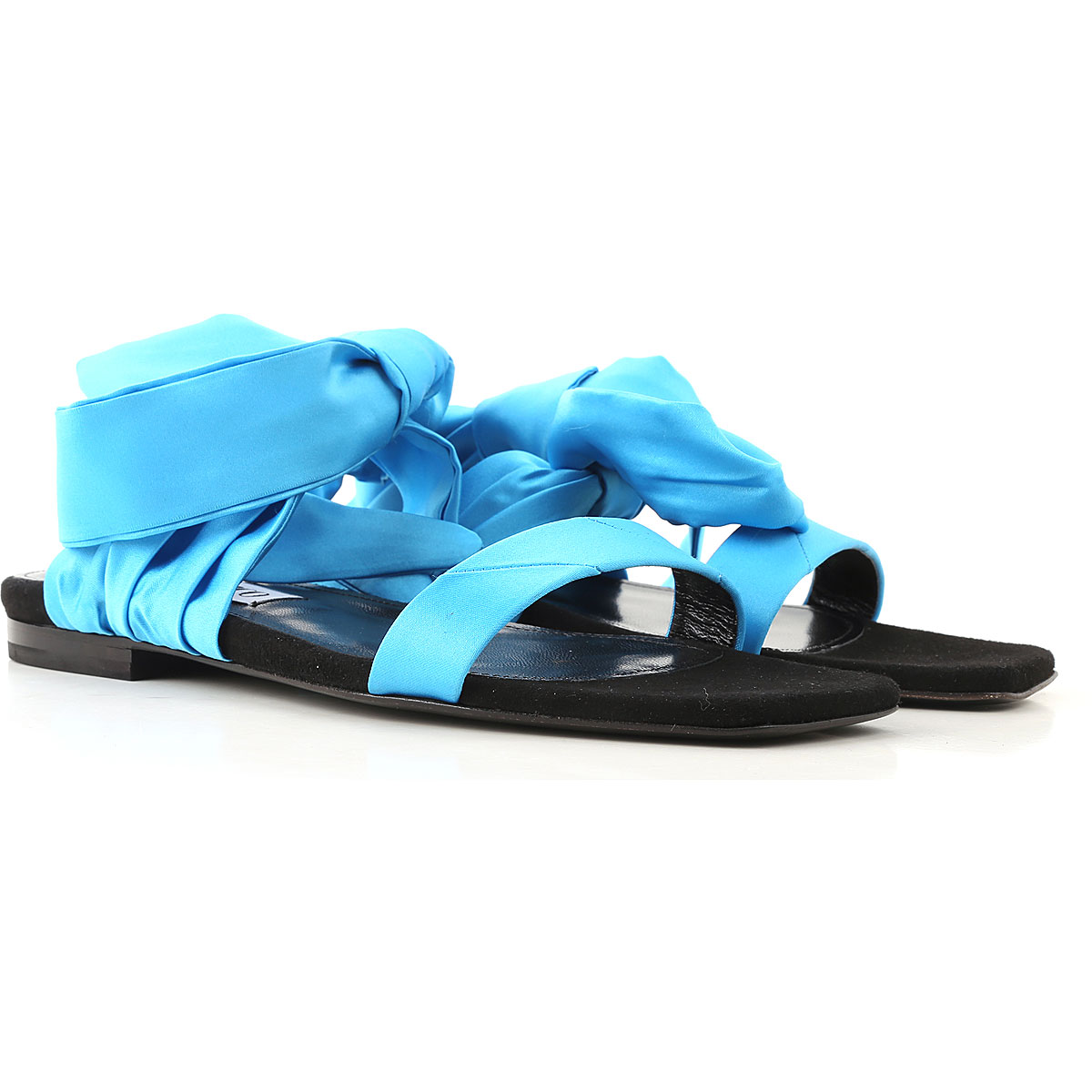The Attico Sandals for Women On Sale, Turquoise, Fabric, 2019, 10 6 7 8 9