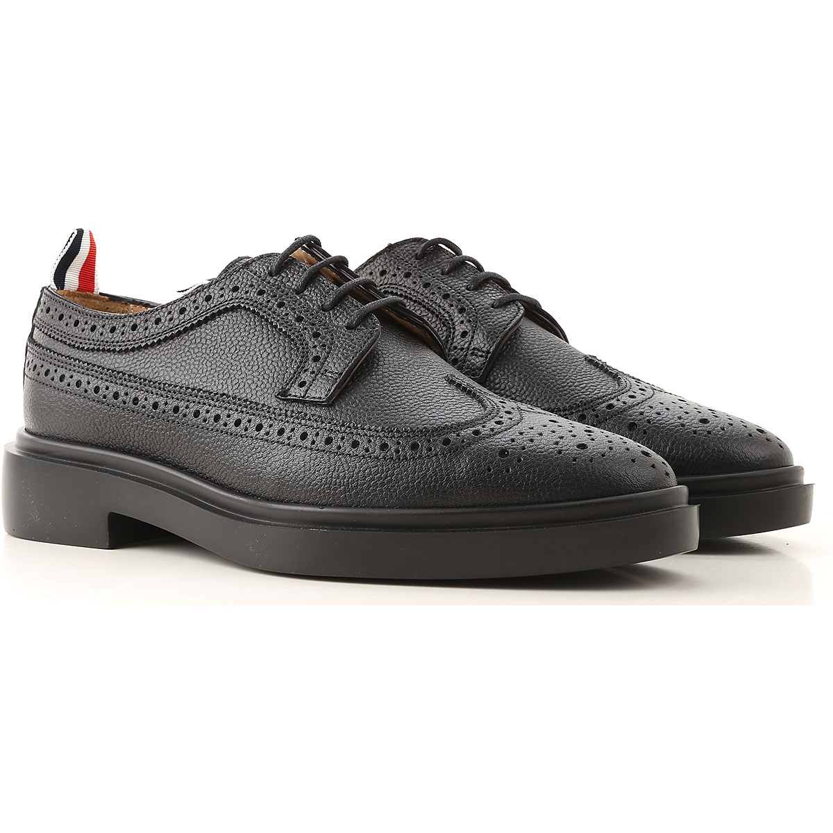 THOM BROWNE Lace Up Shoes for Men Oxfords, Derbies and Brogues On Sale, Black, Leather, 2019, 10 6 9