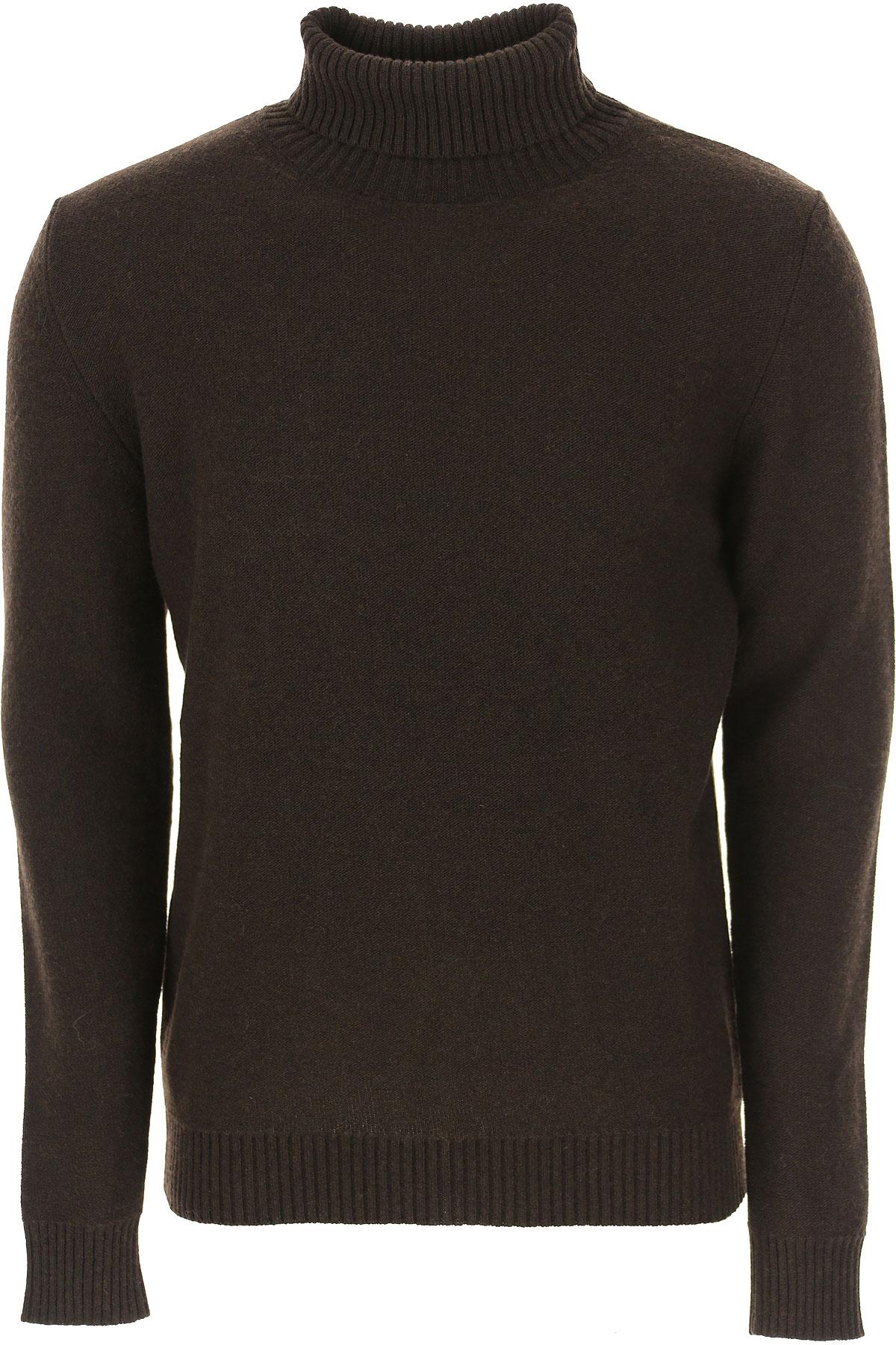 The Gigi Sweater for Men Jumper On Sale, Dark Brown, Wool, 2019, L S