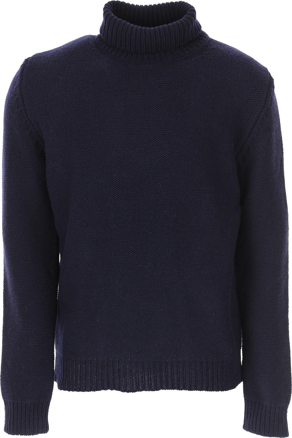 The Gigi Sweater for Men Jumper On Sale, Dark Blue, Wool, 2019, L M S
