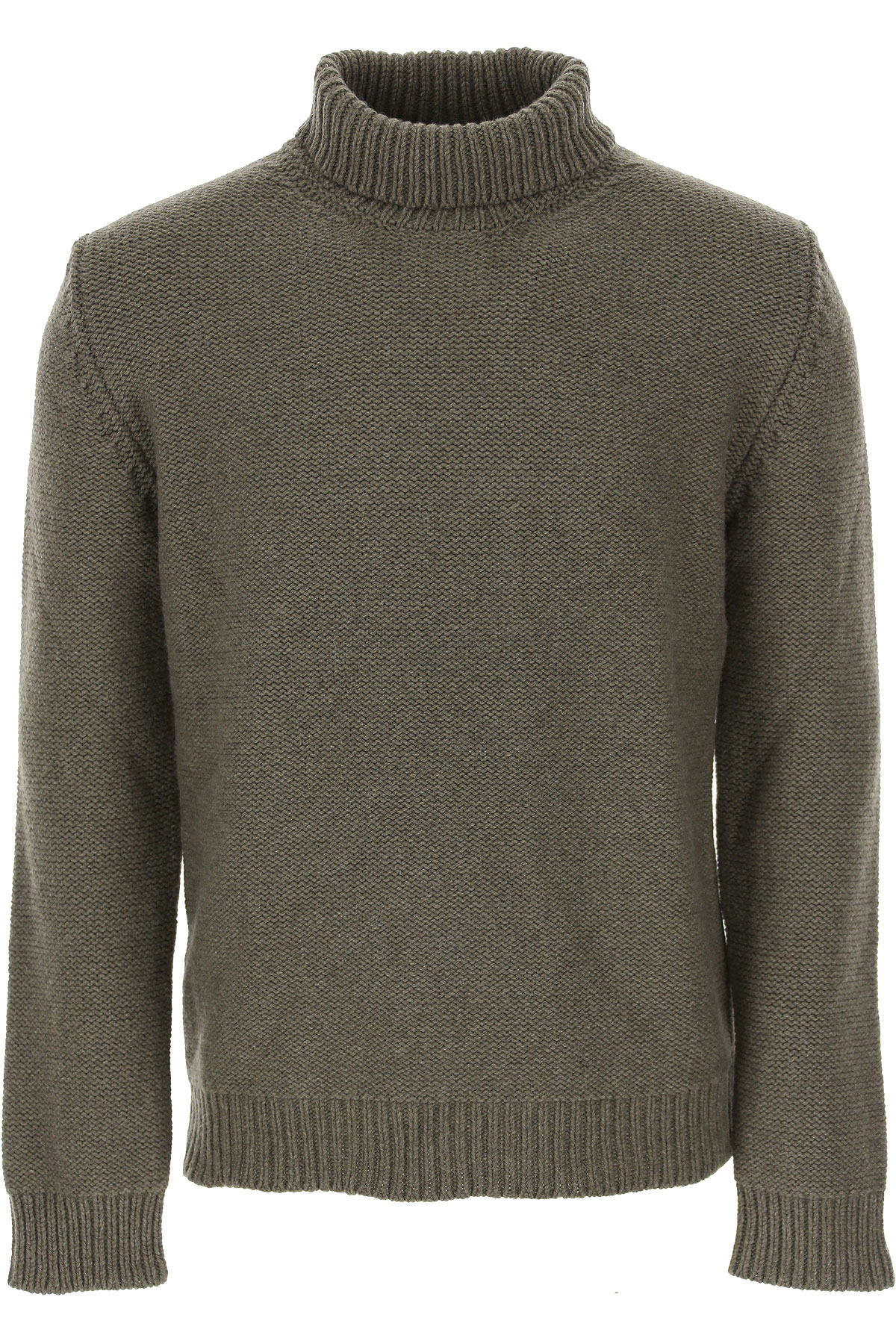 The Gigi Sweater for Men Jumper On Sale, Loden Green, Wool, 2019, L M S