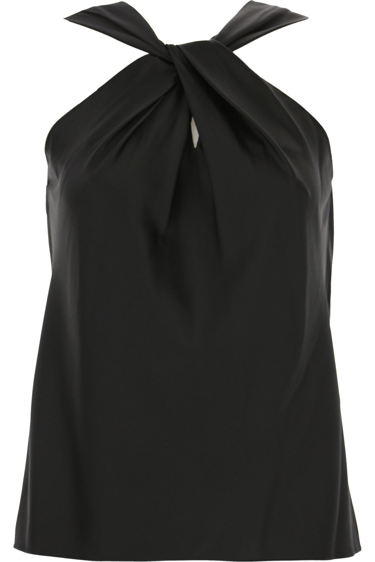 Theory Top for Women On Sale, Black, Silk, 2019, 4 6