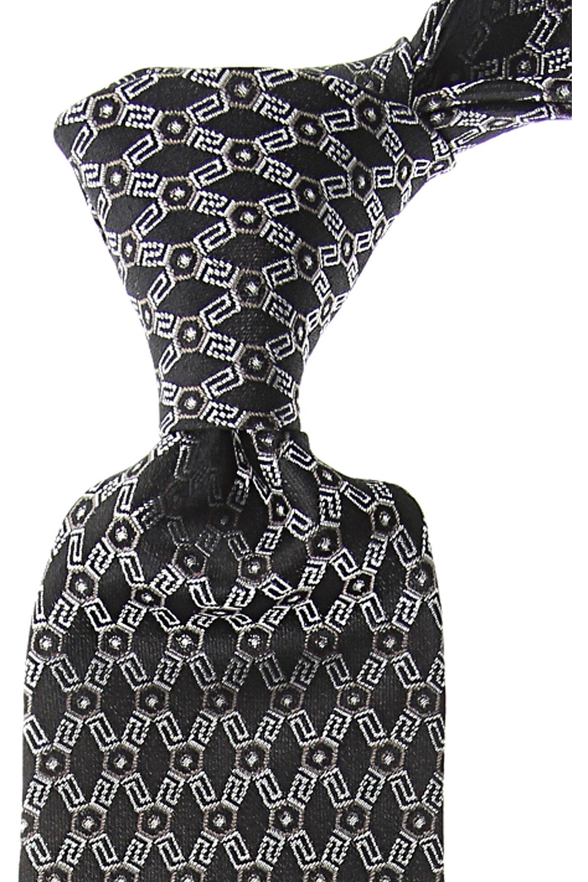 Gianni Versace Cravates Pas cher en Soldes, Ébène, Soie, 2021