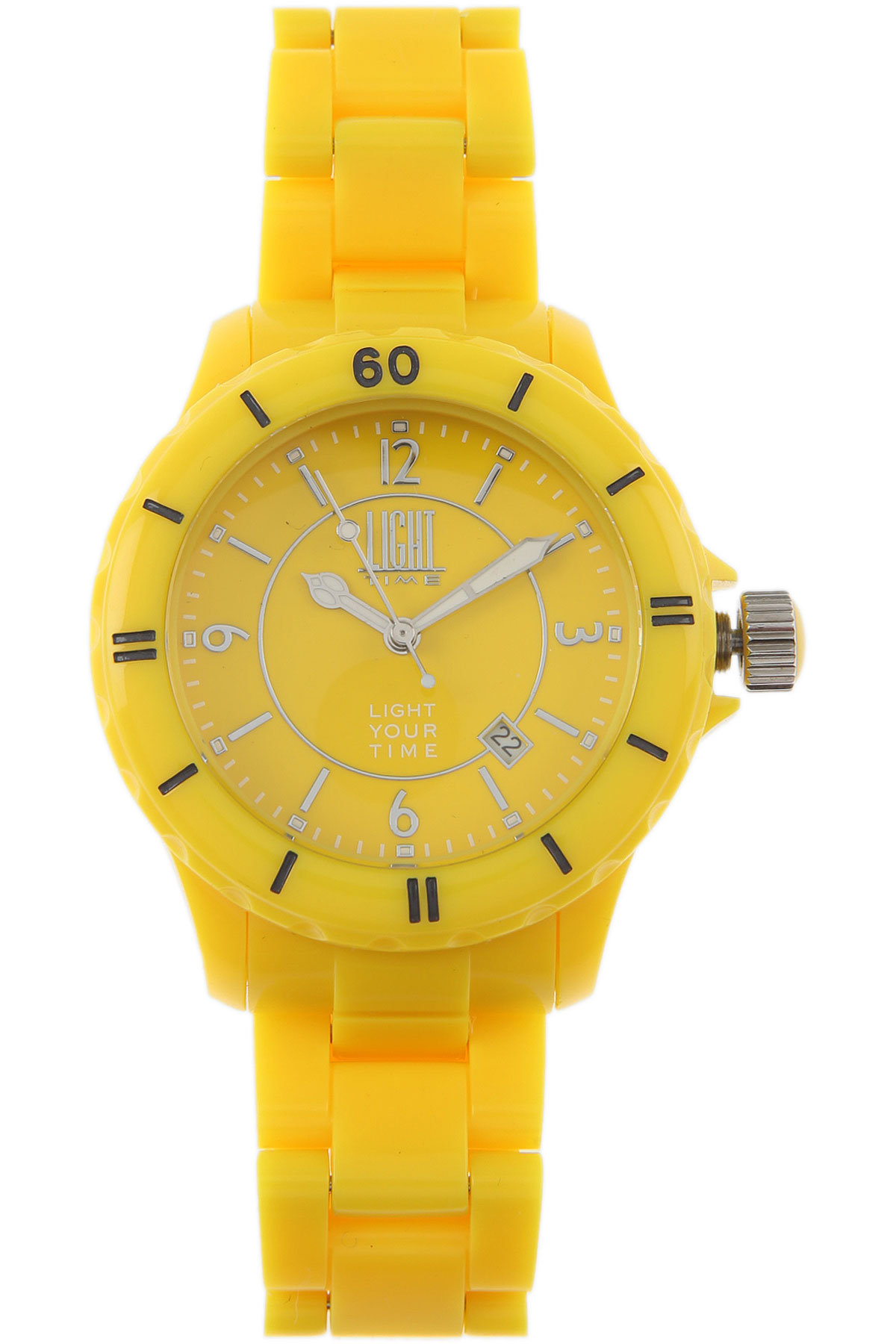 Image of Light Time Watch for Women, Yellow, Polycarbonate, 2017