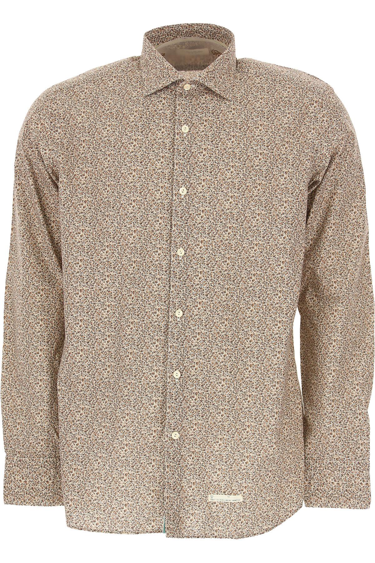 Tintoria Mattei 954 Shirt for Men On Sale, Beige, Cotton, 2019, 16.5 17