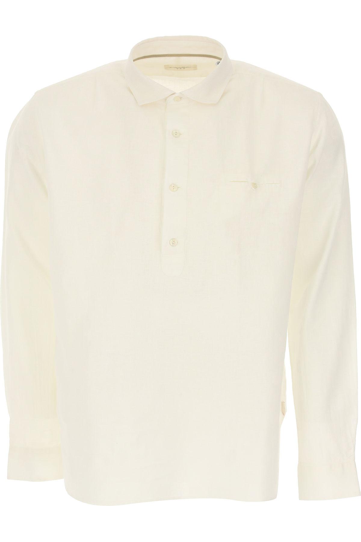 Tintoria Mattei 954 Shirt for Men, White, linen, 2019, 16 17 17.5