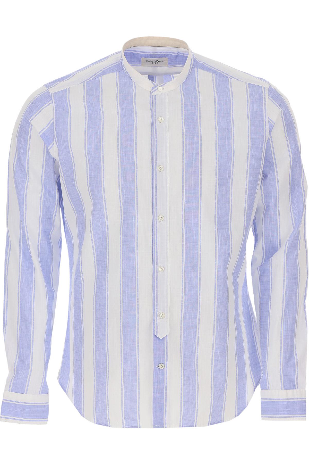 Tintoria Mattei 954 Shirt for Men On Sale, White, Cotton, 2019, 15.5 15.75 16 16.5 17