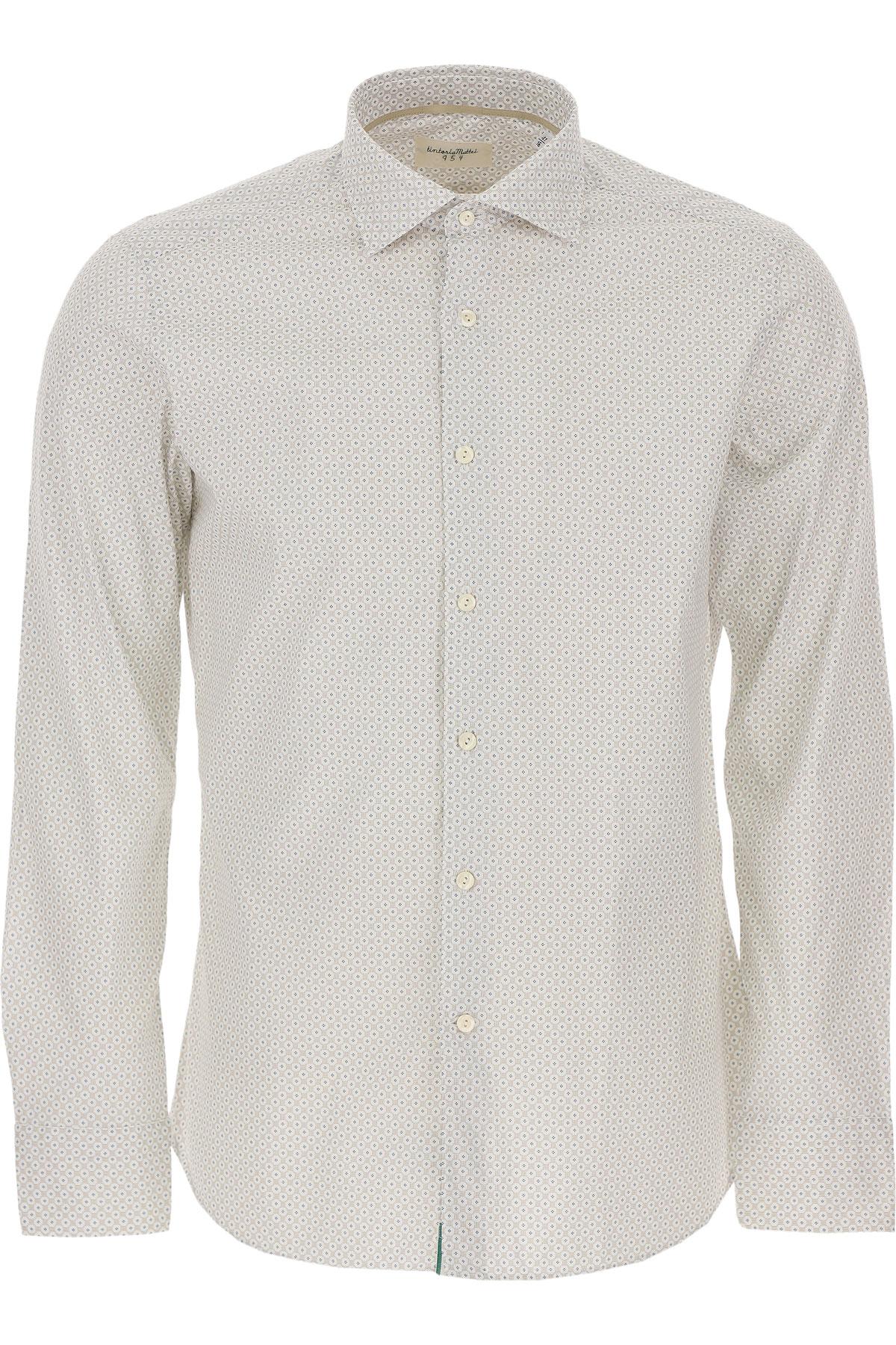 Tintoria Mattei 954 Shirt for Men On Sale, White, Cotton, 2019, 15.5 15.75 16 16.5 17 17.5