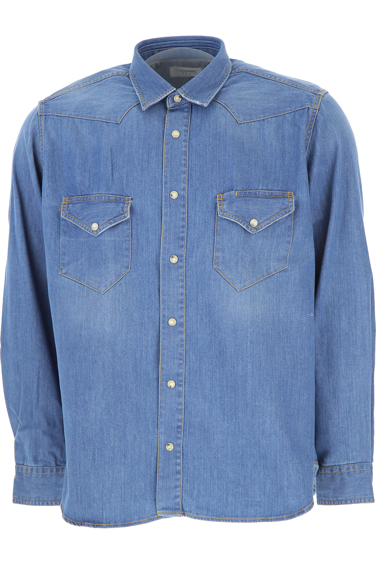 Image of Tintoria Mattei 954 Shirt for Men, Denim, Cotton, 2017, 15.5 15.75 16 16.5 17 17.5
