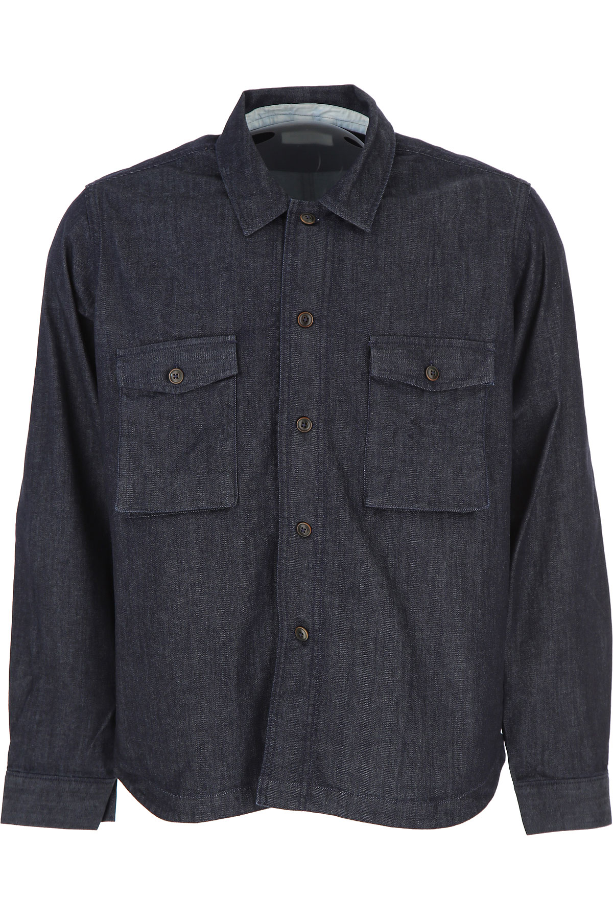 Image of Tintoria Mattei 954 Shirt for Men, Dark Blue Denim, Cotton, 2017, 15.5 15.75 16 16.5 17 17.5