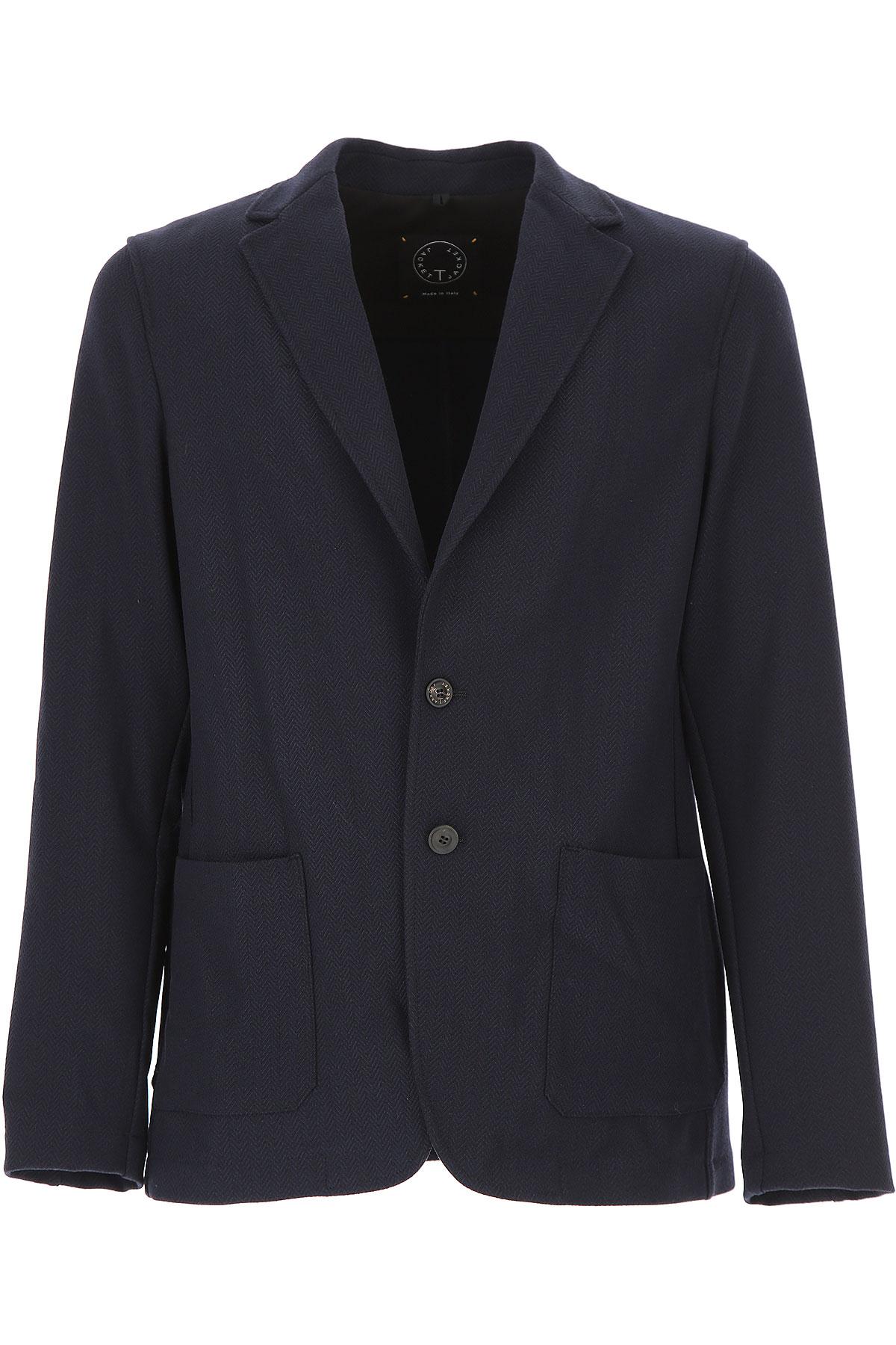 Image of T-Jacket Blazer for Men, Sport Coat, Blue, polyester, 2017, M XL