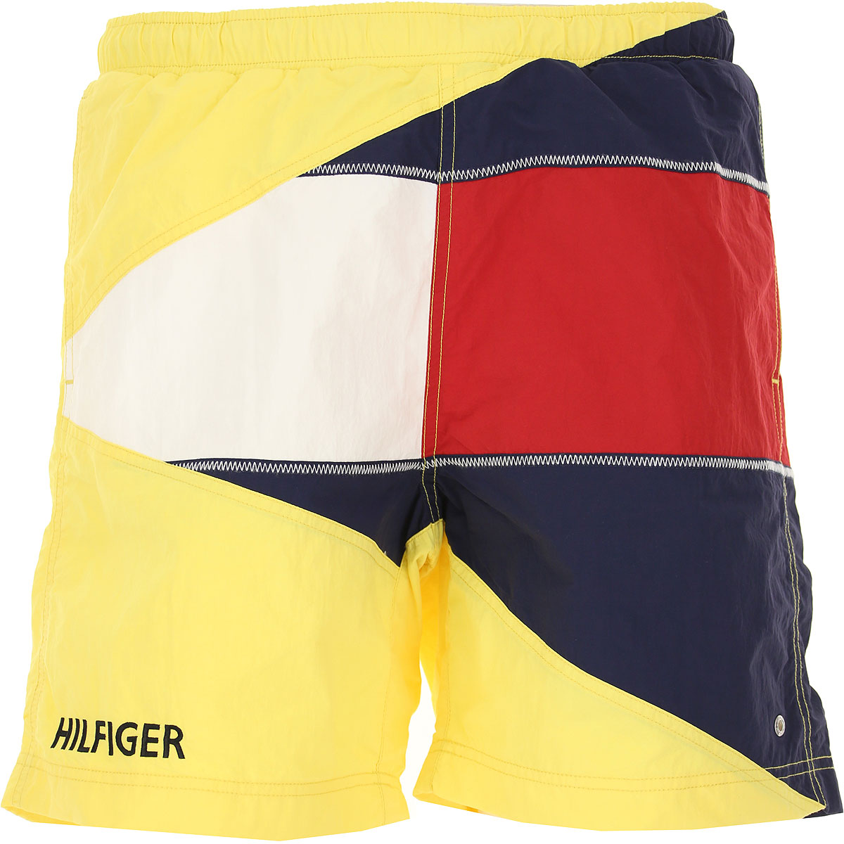 Tommy Hilfiger Mens Clothing, Yellow, polyamide, 2019, M S XS