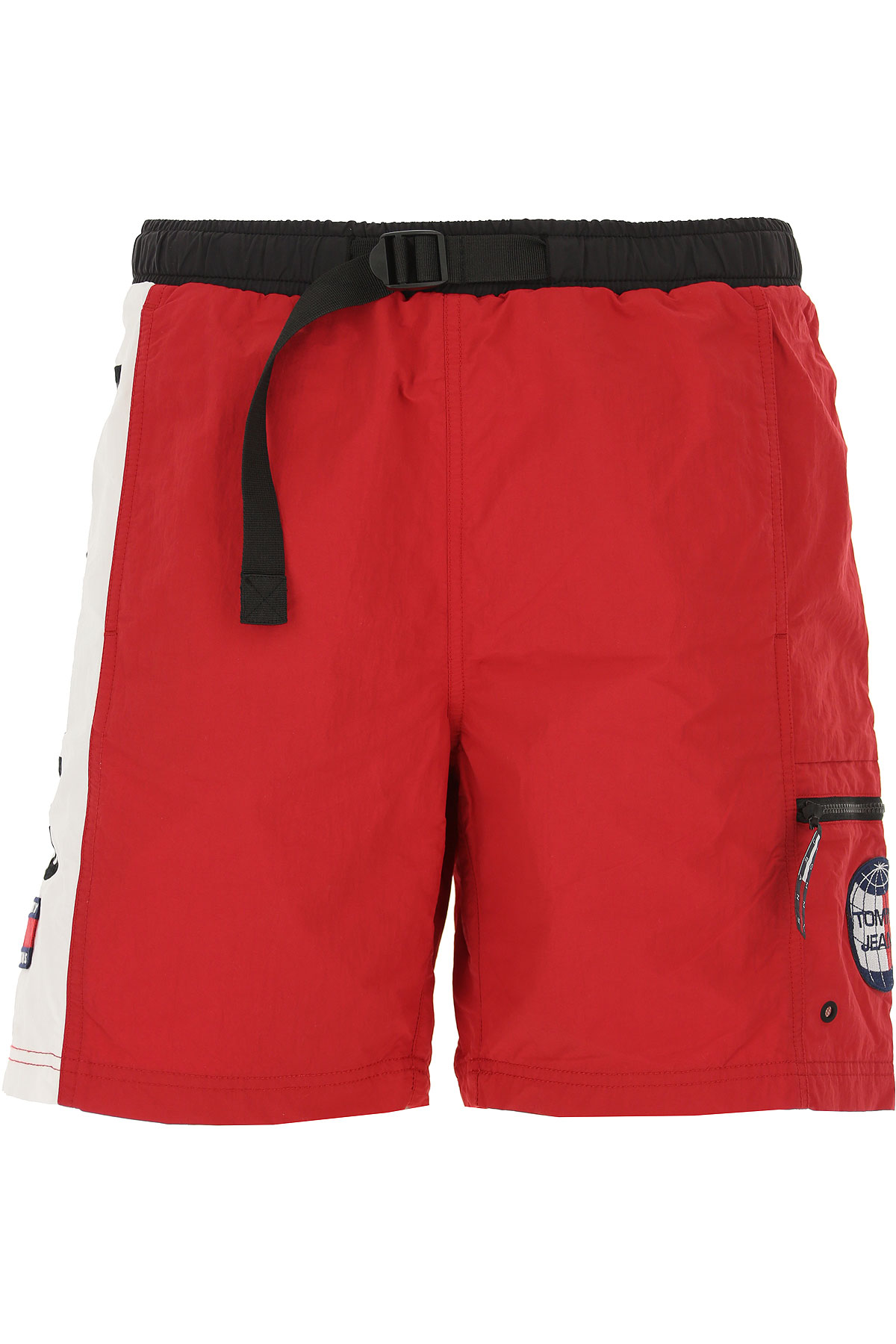 Tommy Hilfiger Mens Clothing, Cherry Red, polyamide, 2019, S XS