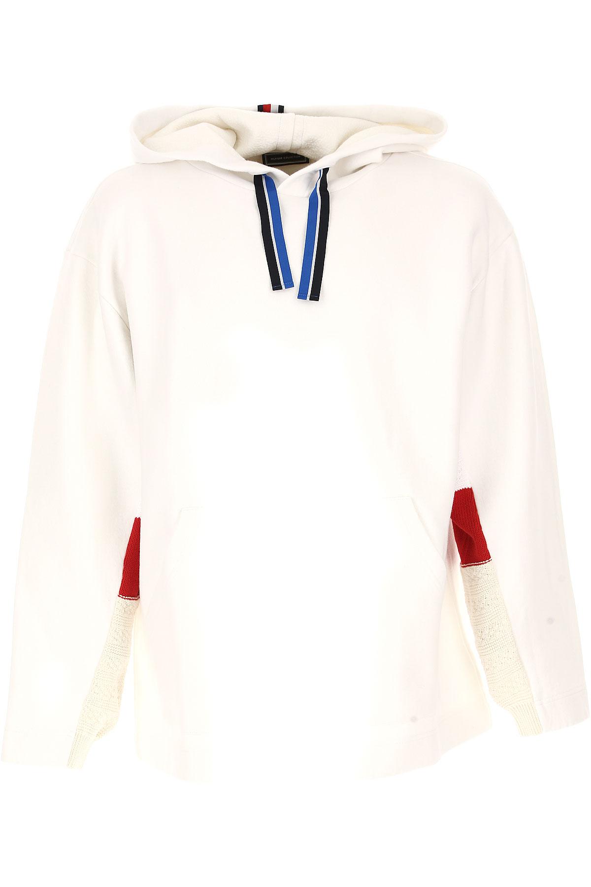 Tommy Hilfiger Sweatshirt for Men On Sale, White, Cotton, 2017, L M S USA-441946