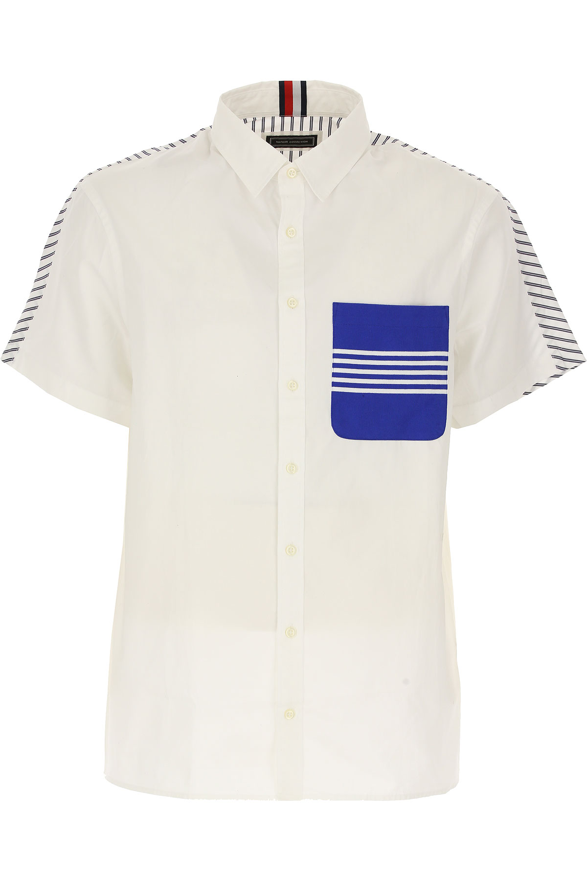 Tommy Hilfiger Mens Clothing On Sale in Outlet, White, Cotton, 2019, S • IT 46 M • IT 48