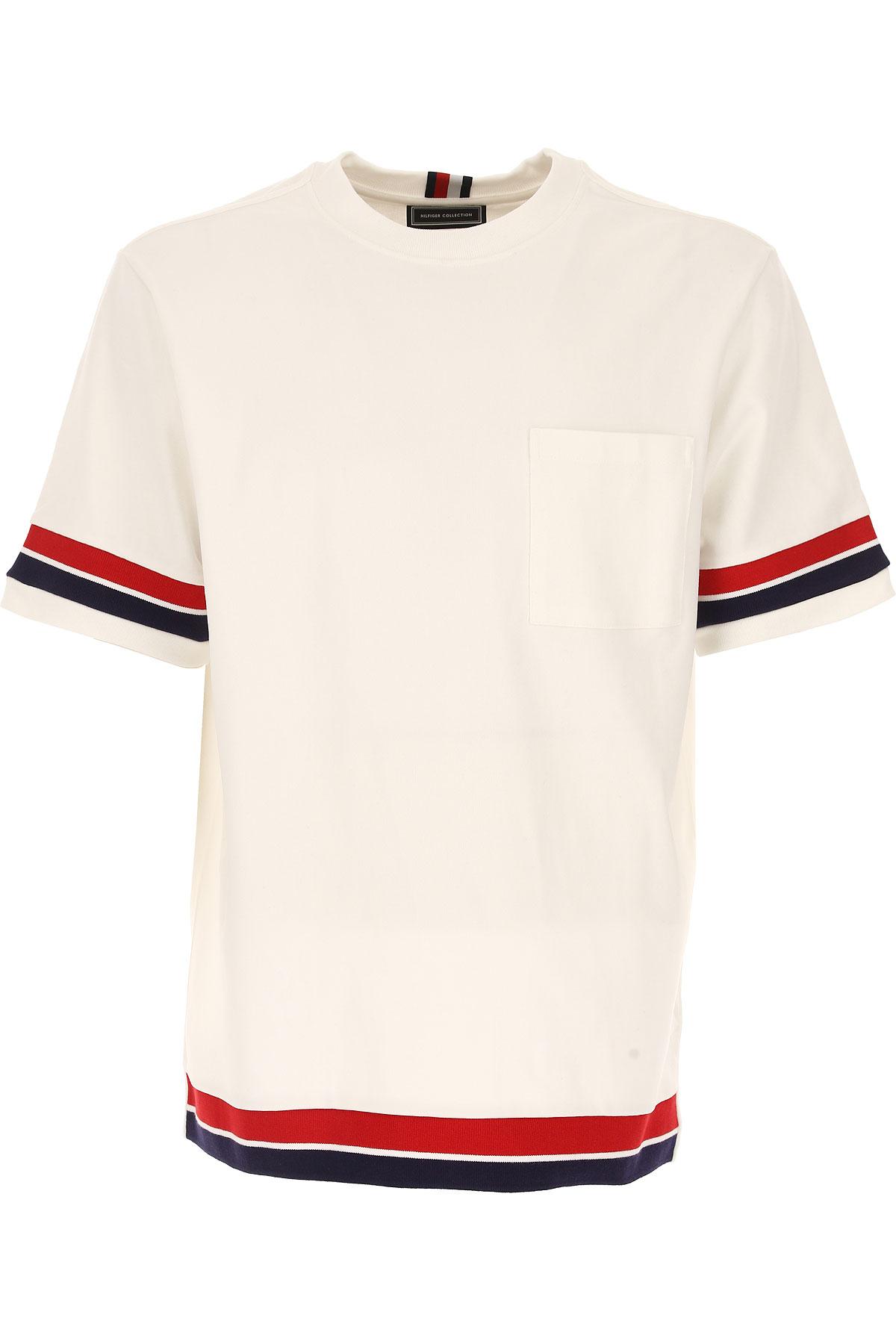 Tommy Hilfiger Sweatshirt for Men On Sale, White, Cotton, 2017, L M S USA-441961