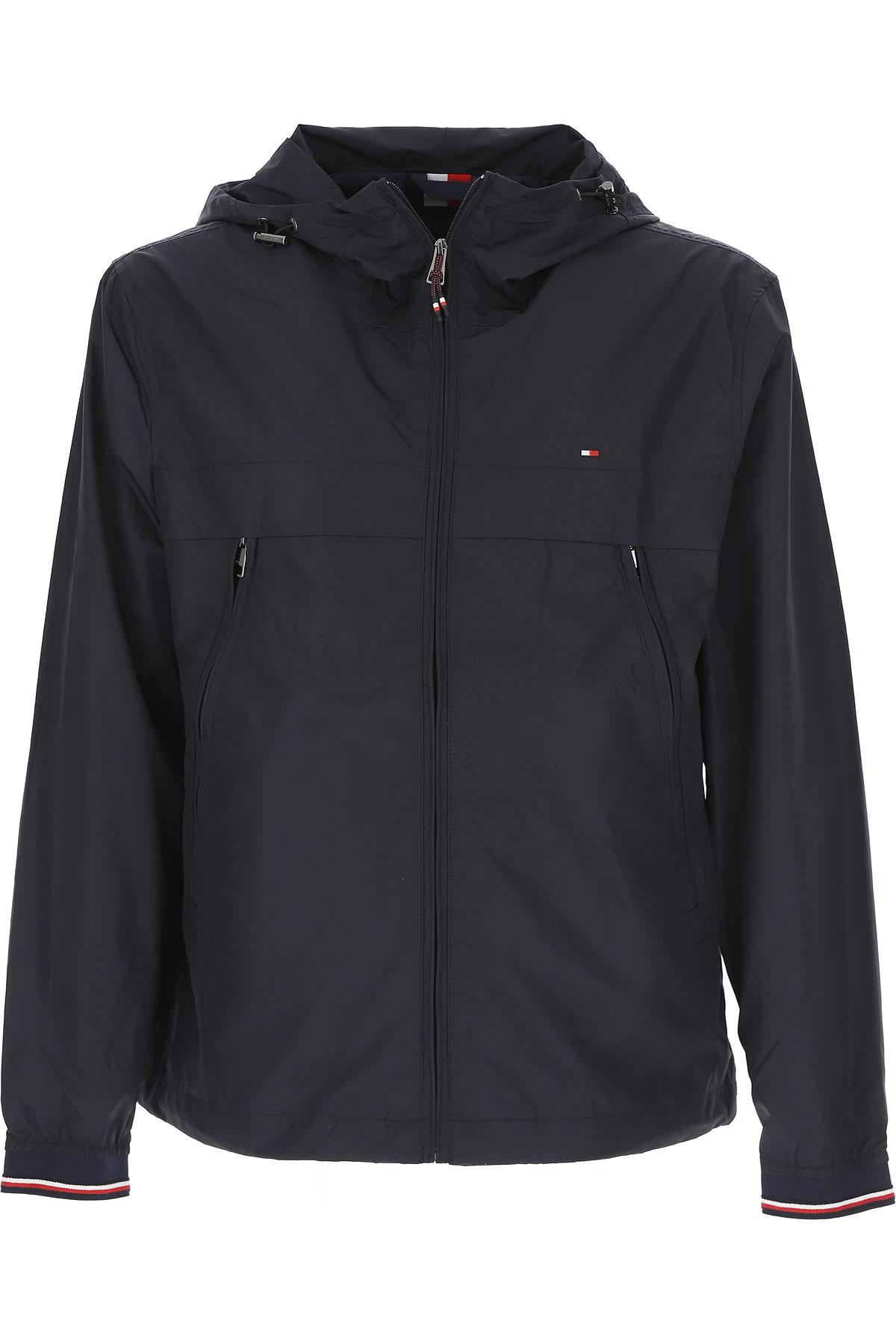 Tommy Hilfiger Jacket for Men On Sale, Navy Blue, polyestere, 2019, L M S XL