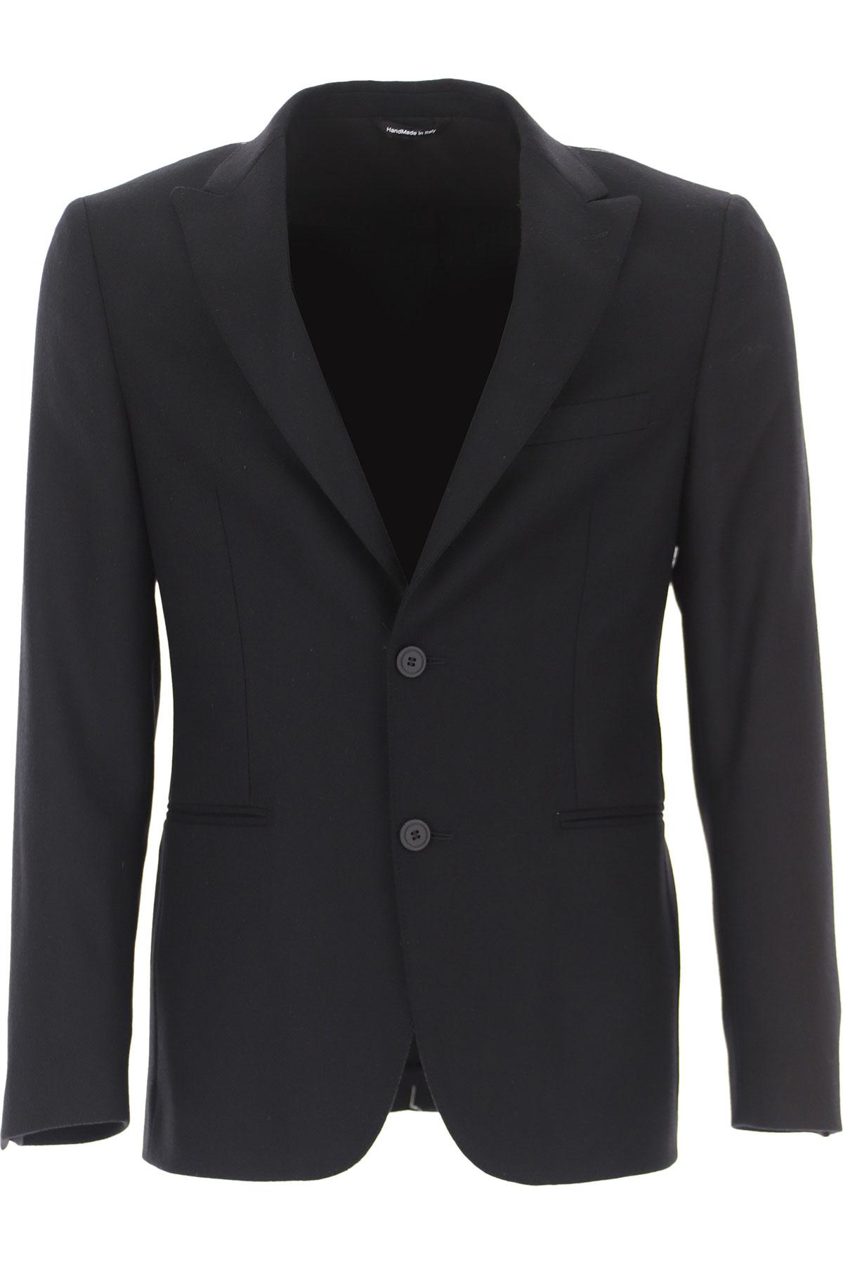 Tonello Blazer for Men, Sport Coat On Sale, Black, Cashemere, 2019, L S