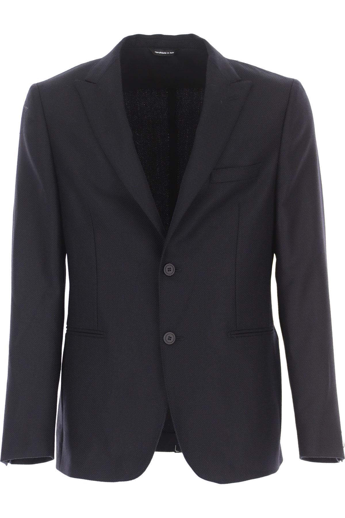 Tonello Blazer for Men, Sport Coat On Sale, navy, Virgin wool, 2019, L M XL XXL