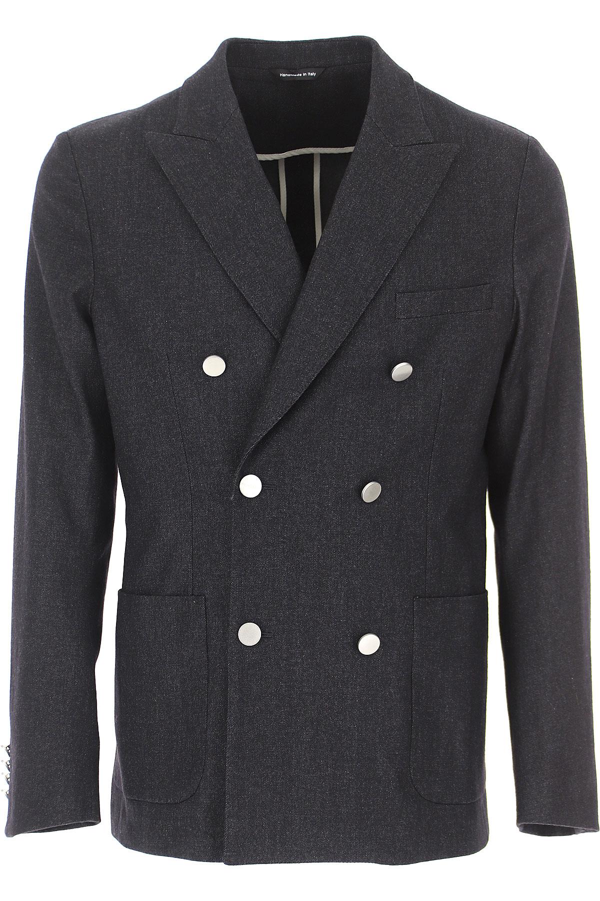 Tonello Blazer for Men, Sport Coat On Sale, Anthracite Grey Melange, Virgin wool, 2019, L XXL