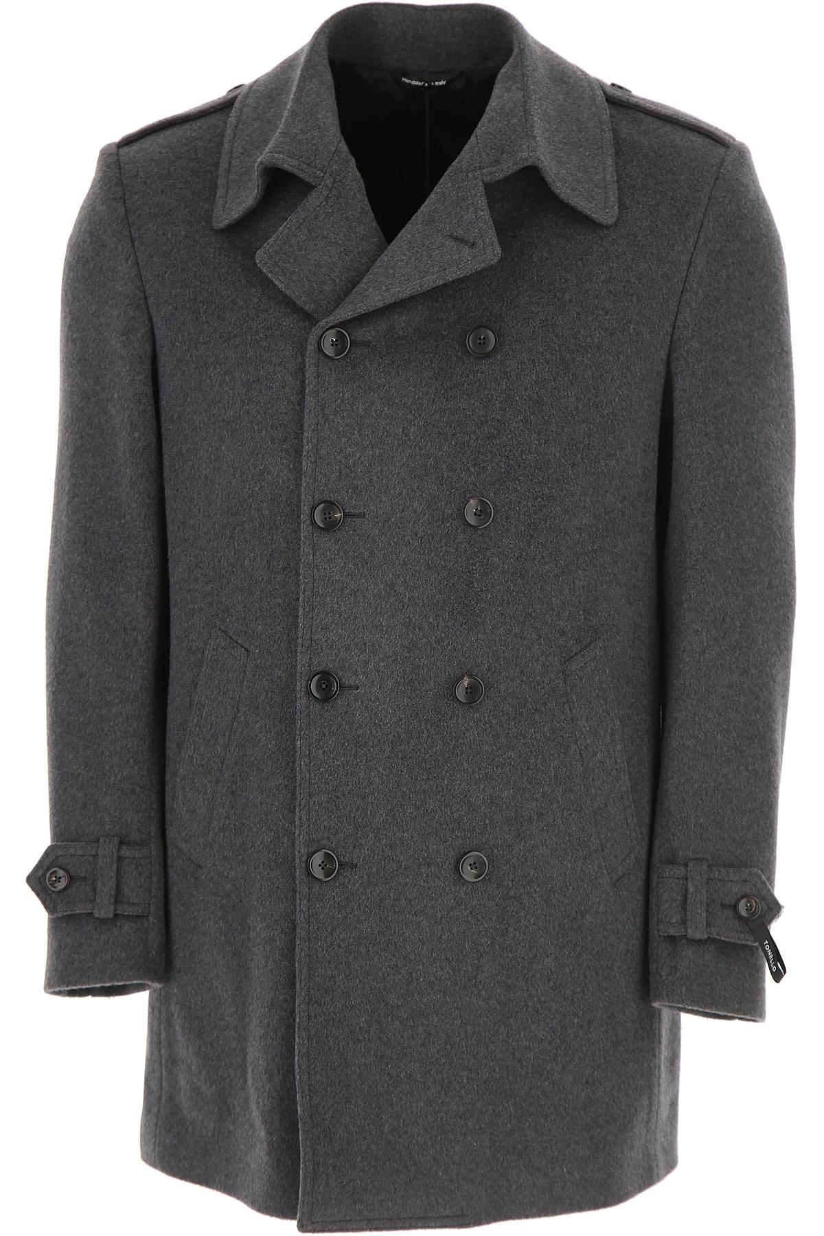 Image of Tonello Men\'s Coat, Grey, Virgin wool, 2017, L M XL