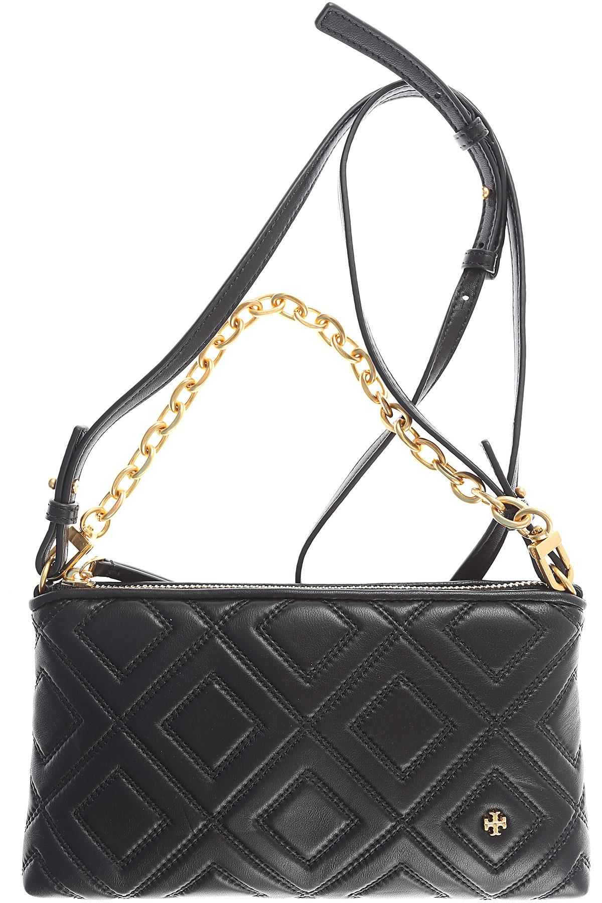 Tory Burch Shoulder Bag for Women On Sale, Black, Calfskin Leather, 2017 USA-459145