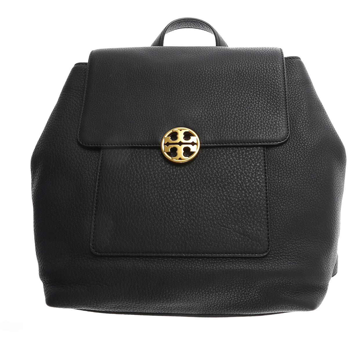 Image of Tory Burch Backpack for Women On Sale, Black, Calfskin Leather, 2017