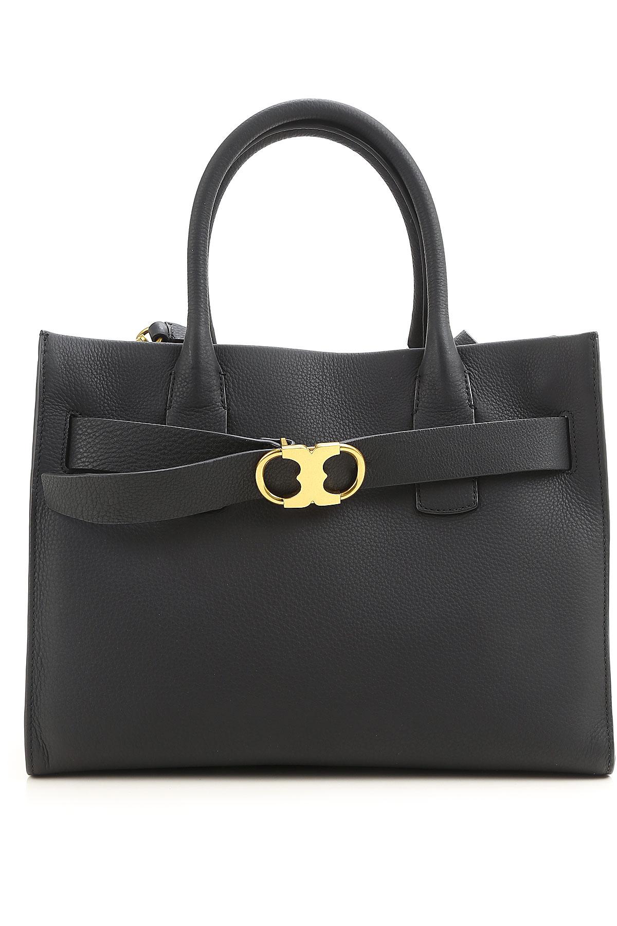 Tory Burch Tote Bag On Sale, Black, Leather, 2017 USA-417391