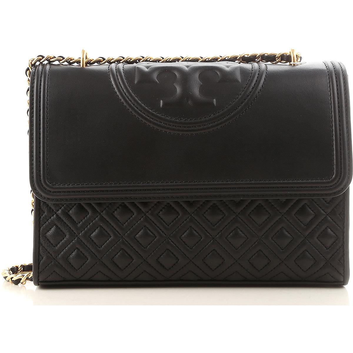 Tory Burch Shoulder Bag for Women, Black, Leather, 2017 USA-444394
