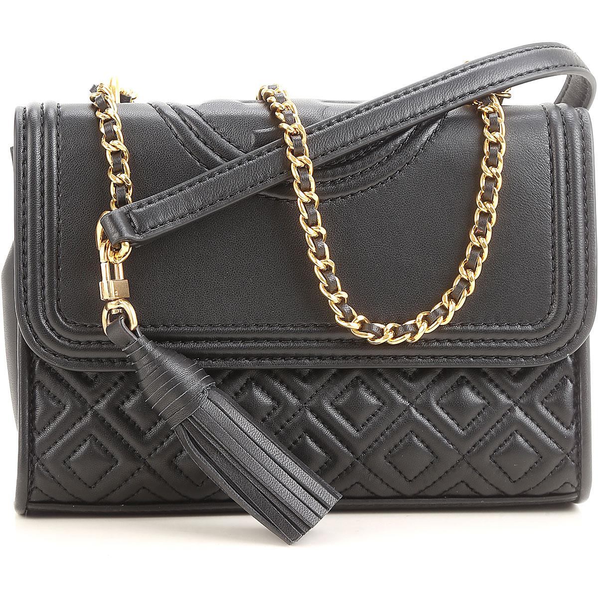 Tory Burch Shoulder Bag for Women, Black, Leather, 2017 USA-432918