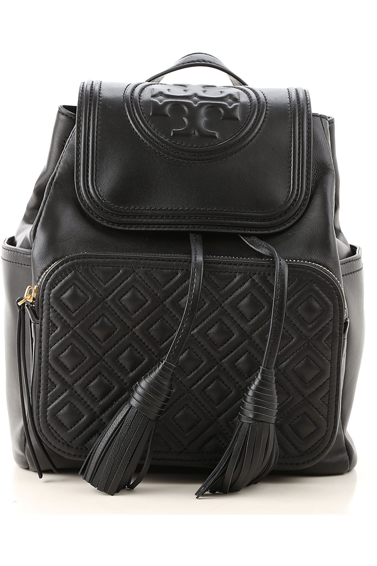 Tory Burch Backpack for Women On Sale, Black, Leather, 2019