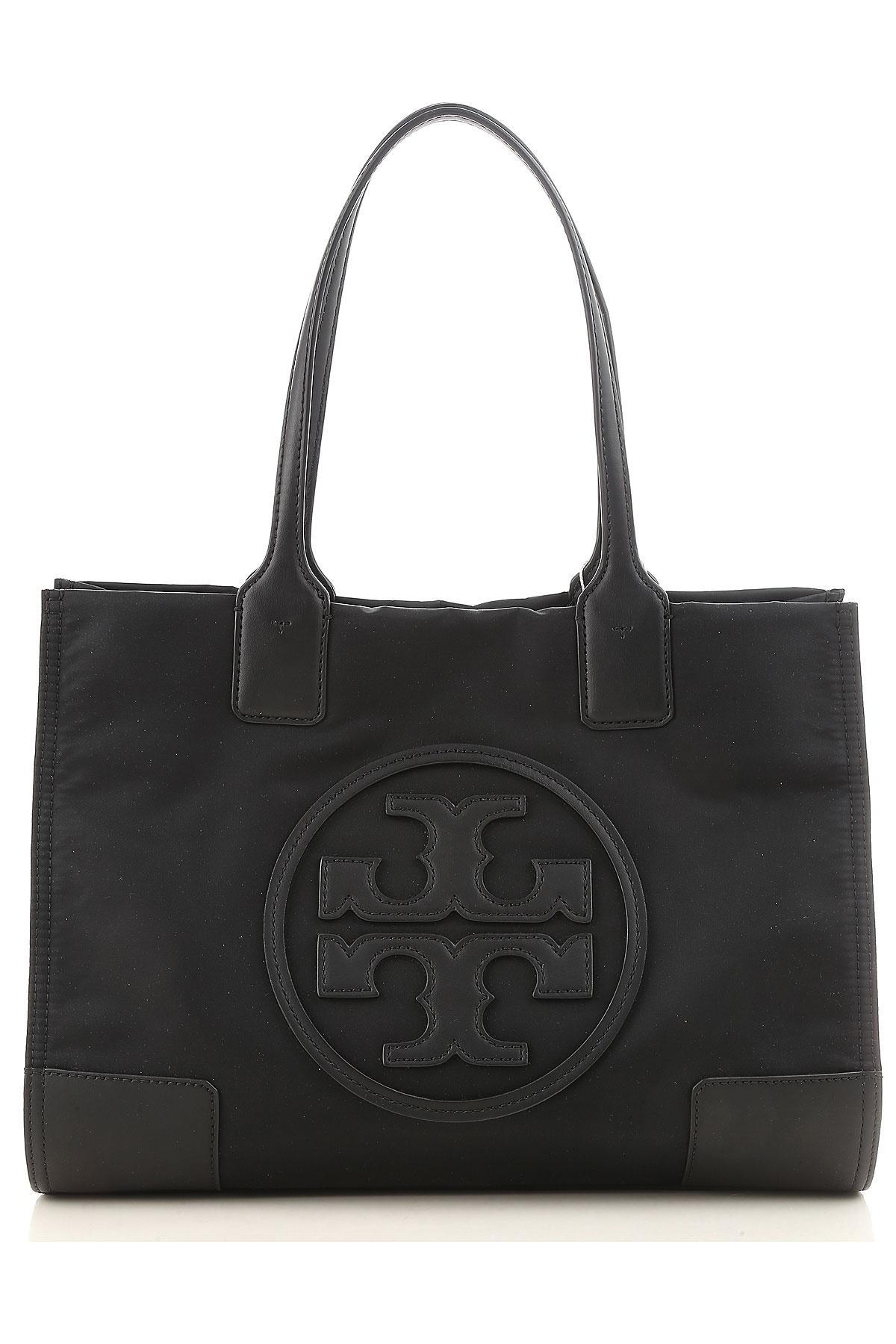 Tory Burch Tote Bag, Black, Nylon, 2017 USA-449489