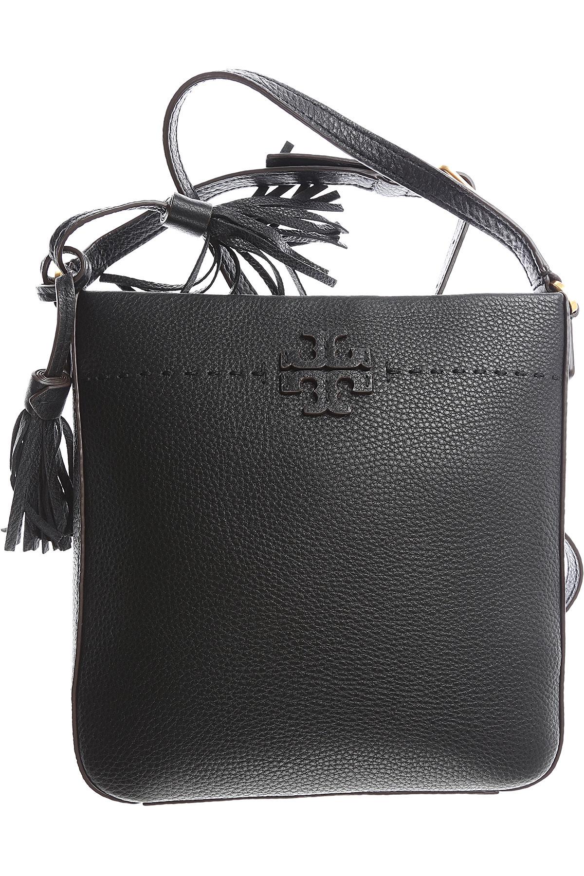 Tory Burch Shoulder Bag for Women On Sale, Black, Leather, 2017 USA-449413