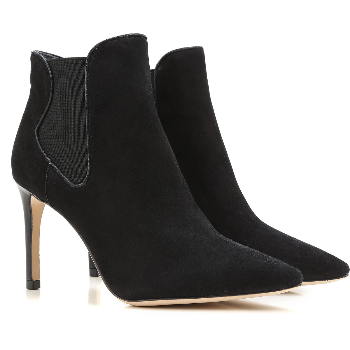 Tory Burch Boots for Women, Booties On Sale in Outlet, Black, Suede leather, 2019, 6 6.5
