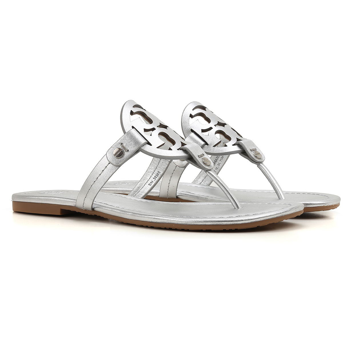 Tory Burch Sandals for Women On Sale, Silver, Leather, 2017, 6 6.5 USA-389639
