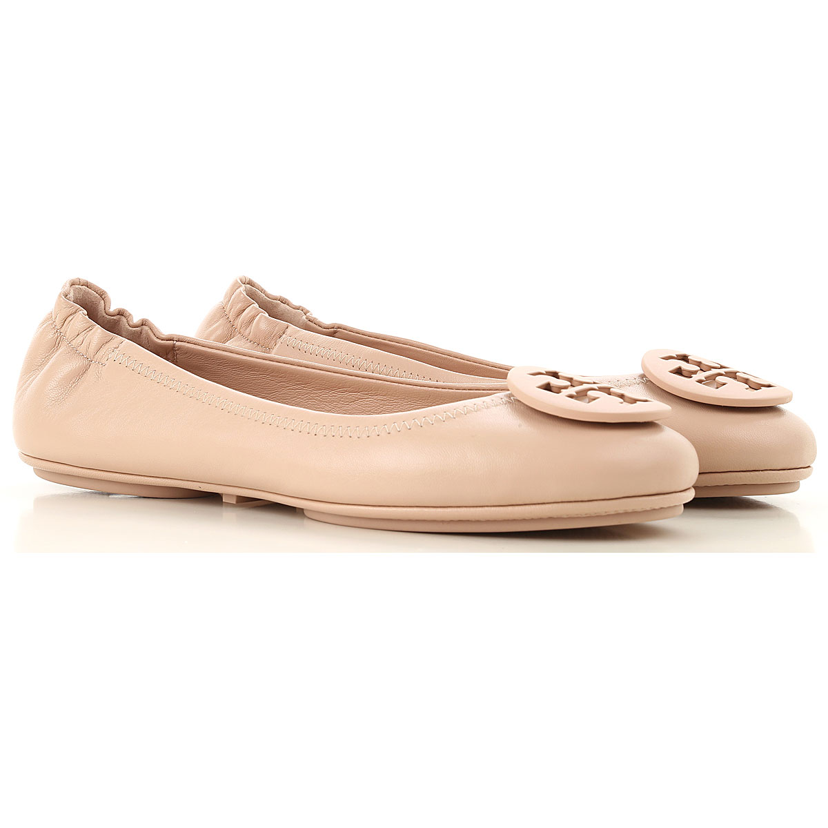 Tory Burch Ballet Flats Ballerina Shoes for Women On Sale, Sand, Leather, 2019, 5 7