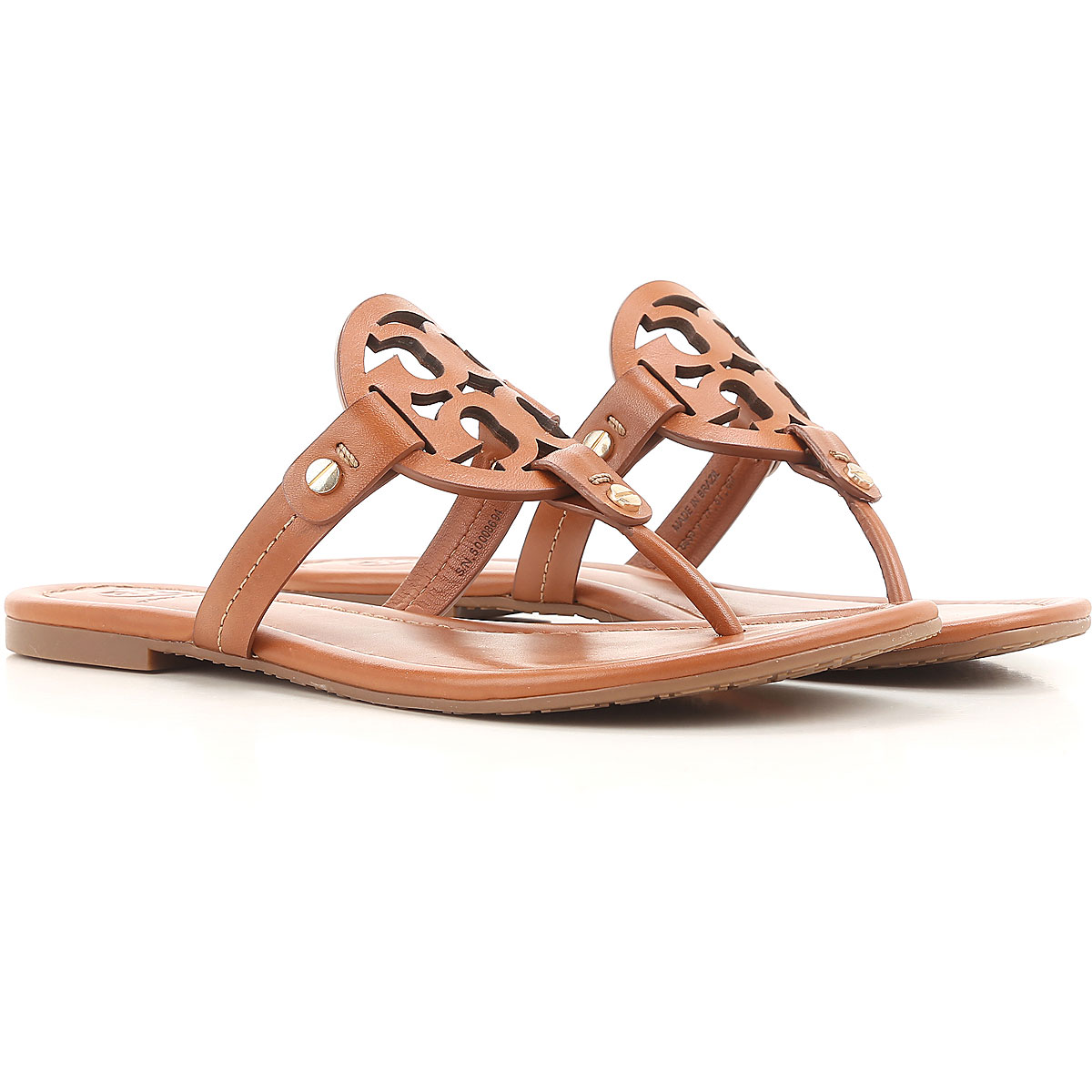 Tory Burch Sandals for Women, Leather Brown, Leather, 2017, 10 8.5 9 USA-436176