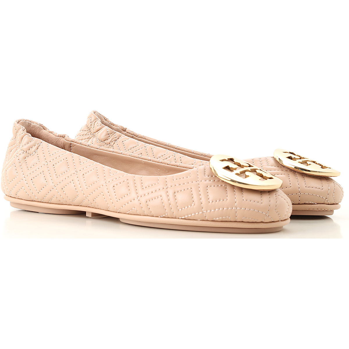 Tory Burch Ballet Flats Ballerina Shoes for Women On Sale, Goan Sand, Leather, 2019, 10 6