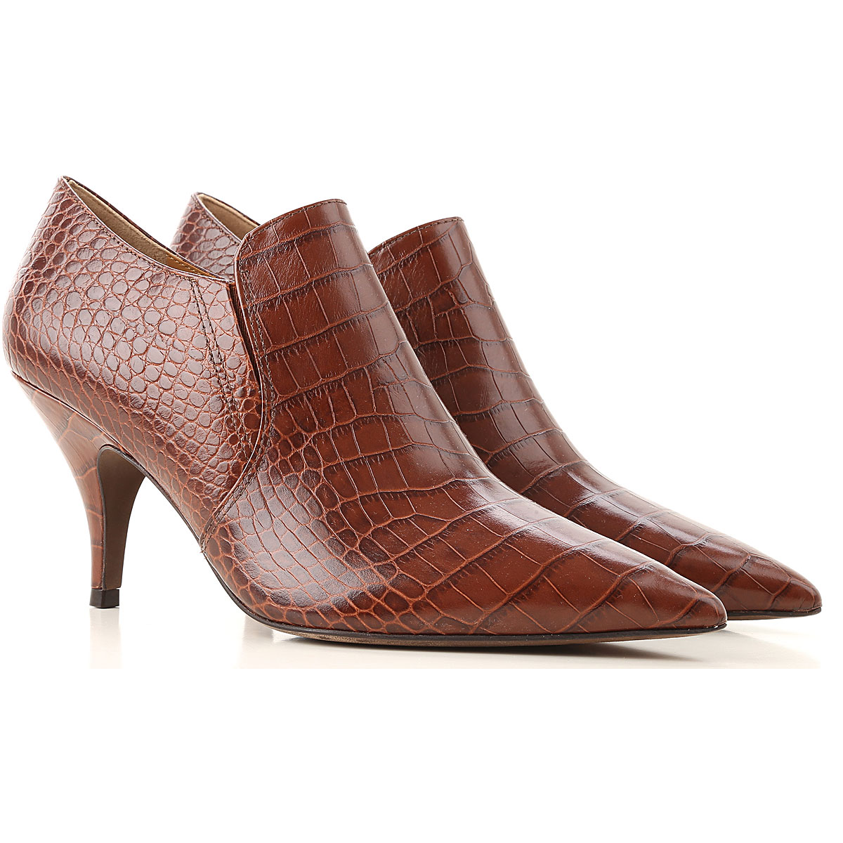 Tory Burch Boots for Women, Booties On Sale in Outlet, Brown, Leather, 2019, 10 8.5