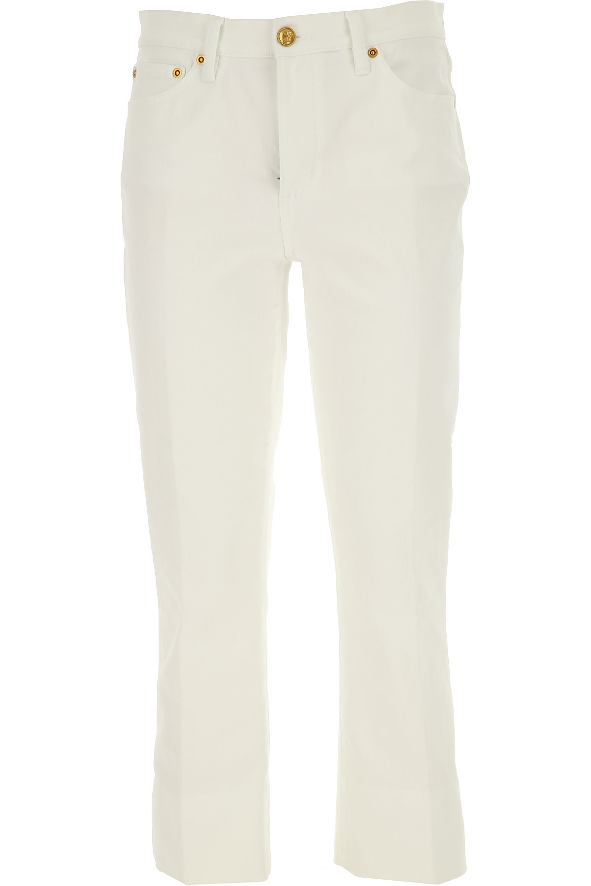 Tory Burch Jeans, White, Cotton, 2017, 26 27 28 29 30
