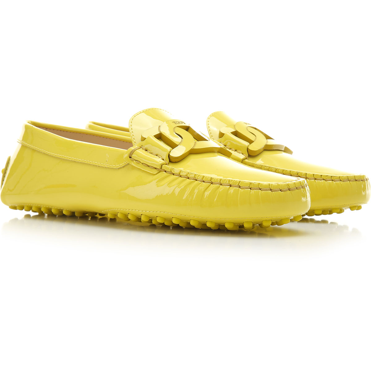 Tods Loafers moterims, Yellow, Patent oda, 2019, 36 37 37.5 38 38.5 39 40