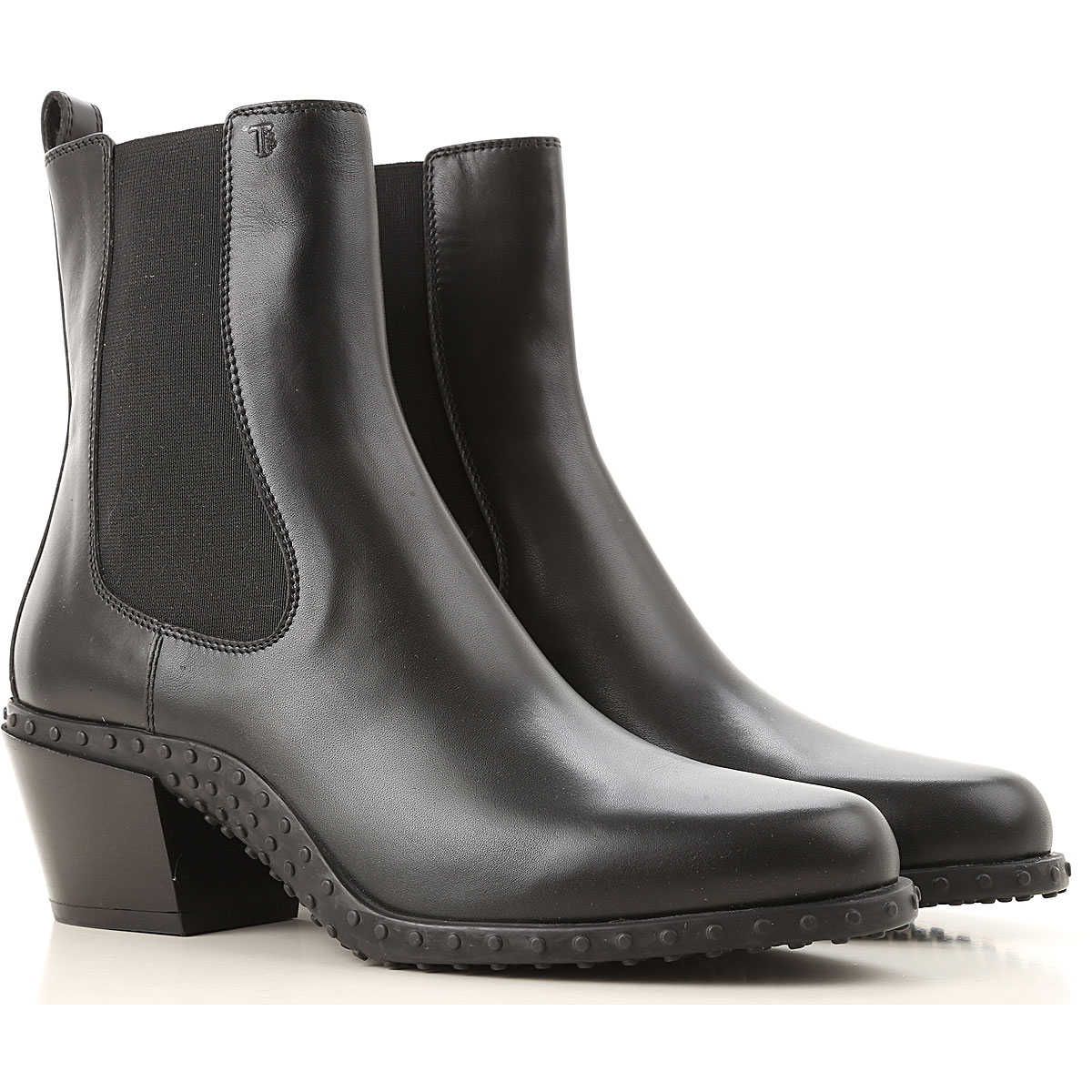 Tods Boots for Women, Booties, Black, Leather, 2019, 10 5 6 6.5 8 8.5 9 9.5