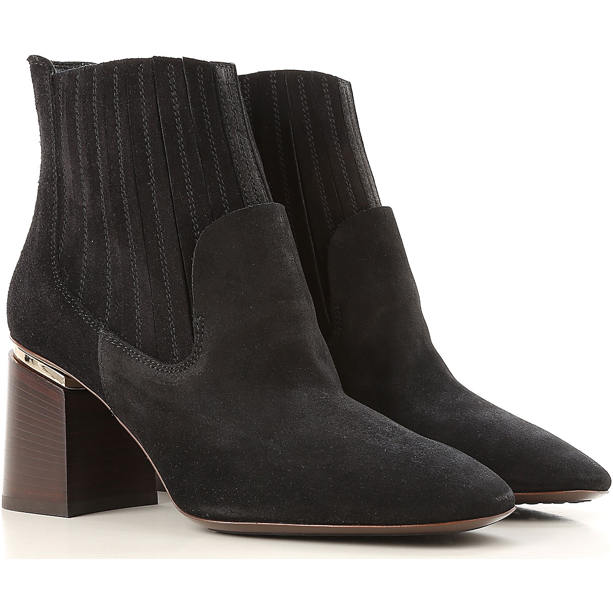 Tods Boots for Women, Booties On Sale, Black, Suede leather, 2017, 6 6.5 7 8 8.5 9