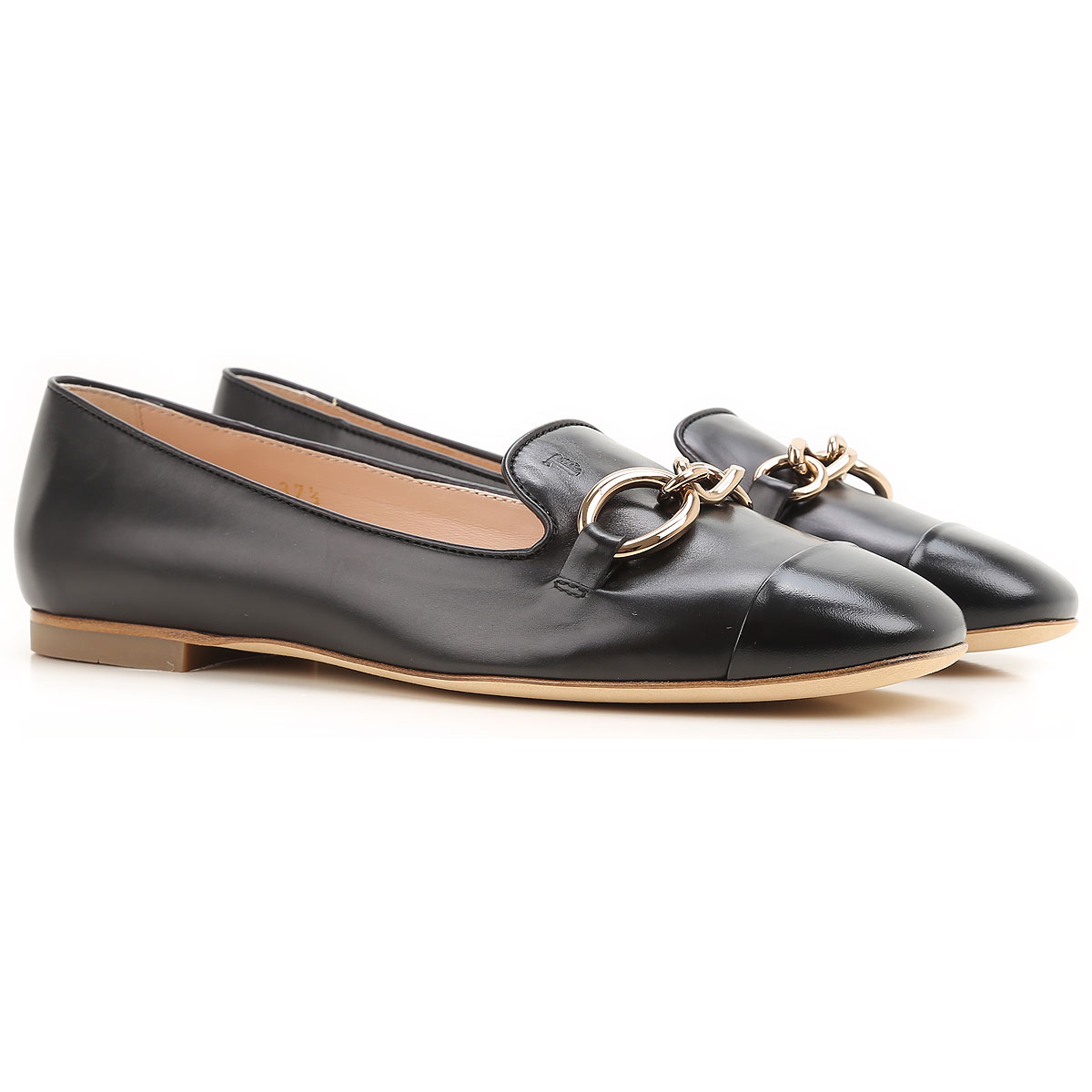 Tods Ballet Flats Ballerina Shoes for Women On Sale in Outlet, Black, Leather, 2019, 7 8
