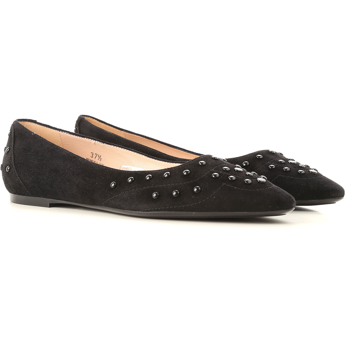 Image of Tods Ballet Flats Ballerina Shoes for Women, Black, Suede leather, 2017, 10 6 6.5 7 8 8.5 9 9.5