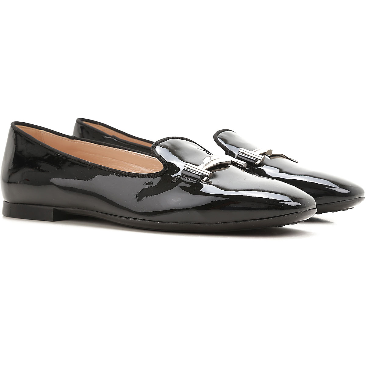 Image of Tods Ballet Flats Ballerina Shoes for Women, Black, Patent, 2017, 10 6 6.5 7 9