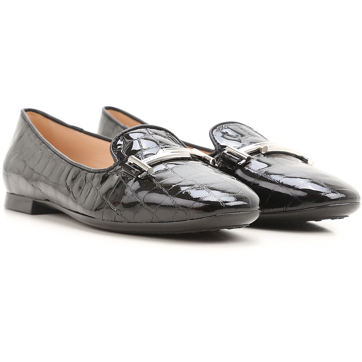 Image of Tods Ballet Flats Ballerina Shoes for Women On Sale, Black, Leather, 2017, 5.5 6 6.5 7