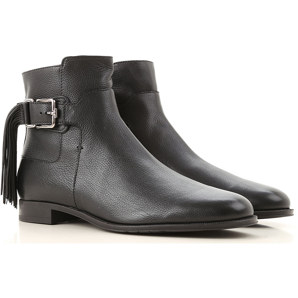 Tods Boots for Women, Booties On Sale, Black, Leather, 2019, 10 5 7