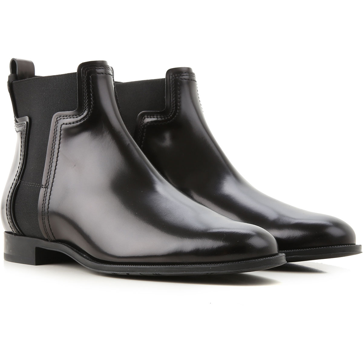Tods Boots for Women, Booties, Black, Leather, 2019, 10 5 6 6.5 7 8 9
